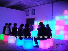 Resin puma design 40cm outdoor plastic cube chair