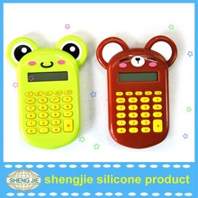 Cute soft foldable silicone calculator for kids 2012