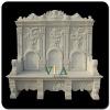 Elegant Natural White marble Stone Garden Bench VMB-025
