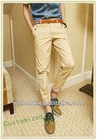 European style mens leisure chino pants latest style men pants