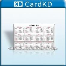 2012 custom calendar card