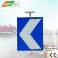 2014 nuevo diseño de aleación de aluminio solar de un solo flecha izquierda dirección de señal de tráfico