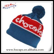2012 new fashion custom design knitted kids pom pom beanie