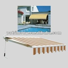Outdoor Awnings PVC protected cassette cover,aluminum frame