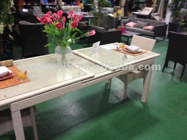 mesa jardim dobravel:2014 mesa dobrável kd extensível mesa de jantar conjuntos