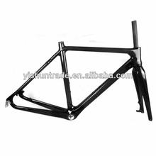 2014 YISHUNBIKE Wholesale 56cm carbon cycle cross frameset BSA/BB30 EN14781 certified taiwan carbon bike frames YS-CX02