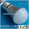 G50 Aluminum 3.6W E27 60 LED SMD Bulb Light