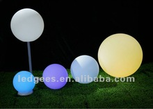 PE material rechargeable Diameter 20,30,40,50,60cm led color changing ball