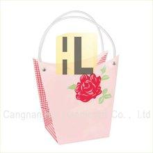 plastic flower gift shopping bags sleeve for retail packaging