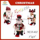 Country Life Animated Singing Christmas figures with Skateboard Santa Snowman Reindeer