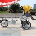2014 neuen stil fahrrad kinderwagen mit autositz rad kinderwagen