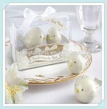 Love birds ceramic salt and pepper shaker for wedding souvenirs