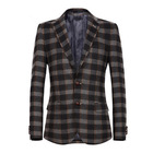 2014 New Arrival Man's Checked Woolen Suit, Slim Fit, Long-sleeve, Fashion Blazer, Casual Suit, CL001