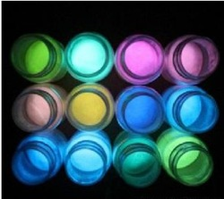 Long-time luminous powder for paint glow in the dark
