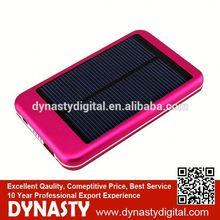 solar charger 5000 mah Polysilicon solar power flashing lcd keychain 5000mah