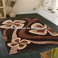 100% polyester long pile shaggy carpet