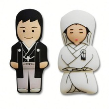 Hot Sale Free Sample bride and groom usb flash drive for Promotional Gift