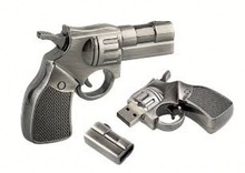 Hot Sale Free Sample usb flash drive gun for Promotional Gift