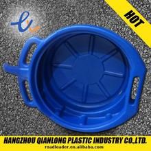 15L blue and black Plastic oil drain pan for car repair