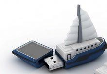 2014 new product wholesale sailing boat usb flash drive free samples made in china
