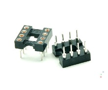 DIP8 IC Sockets Adapter Solder Type Pitch 2.54mm Round hole DIP