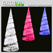 4m Acrylic Spiral LED Tree, Christmas holiday lighted LED Cone Trees, Outdoor 3D spiral Christmas tree