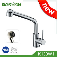 single handle upc health pull out sink brass kitchen faucet