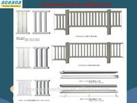 Hot Sale High Quality plastic mould for backyard paver, concrete fence mold