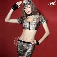 Top design cheap sexy camouflage military uniform