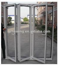 High quality aluminium folding door with aluminum profile frame--- D-AL405