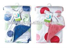 220gsm velveteen polar fleece solid color soft children and baby blanket