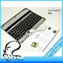 Wireless Bluetooth aluminum keyboard case for ipad 3