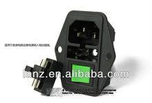 IEC Power Socket ,with switch 15x21.fuse 5x20