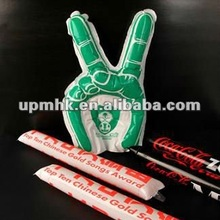 thunder sticks/degrable inflatable glow stick/pointing hand stick