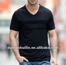 Huilin clothing hot sale New design europe v neck t-shirt for men