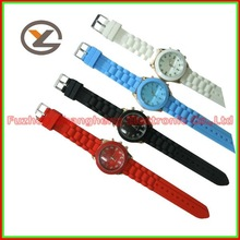 Fashinonable New Colorful Silicone Women Girl Silicone Long Strap Watch