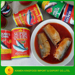 Chinese wholeslae canned mackerel in tomato sauce