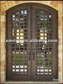 modern ferro forjado portas de entrada dupla comisolamento de vidro de janelainsere