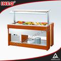 Buffet salada de madeira Bar geladeira venda / salada contador / de madeira Salad Bar