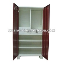 Metal designer wardrobe closet with drawer