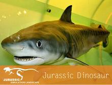 Water Theme Park Animal Model Moving Of Fiberglass Shark