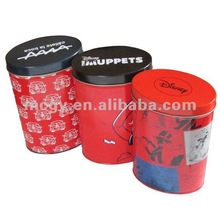 Magentic Newest Design Carton Oval T-shirt Tin Can Garment Boxes Underwear Packaging Box Metal Tin Can Box