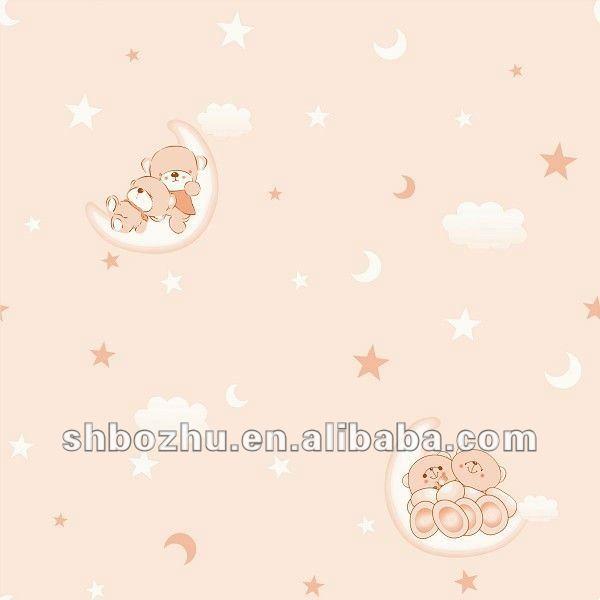 papel pintado no tejido de pared del sitio del beb de papel