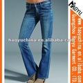 Denim de bangladesh de última moda jeans para senhoras jeans senhora( hy5130)