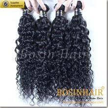 Wholesale Charming 5A grade 22 inch 1B# virgin candy curl brazilian hair