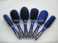 Hot sale professional blue plastic bristle hair brush