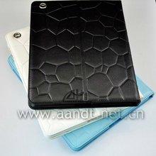 Porpular litch pattern soft PU rotate case for ipad
