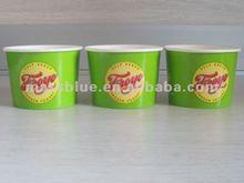 tek cidarlı çift pe kaplamalı kağıt dondurulmuş yoğurt kabı