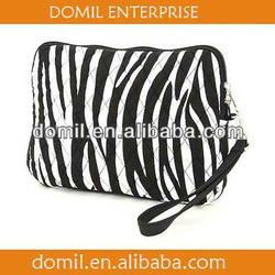 MONOGRAMMED ZEBRA PATTERN QUILTED MICROFIBER TABLET SLEEVE CASE -MOM-A072