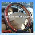 pvc de alta qualidade cool carro volante cobre o material de madeira com couro de vendas para as meninas
